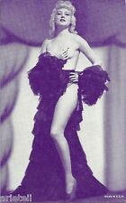 Pin Up- Semi Nude Vendor Arcade / Mutoscope Card- Blond- Long Legs- Holds Breast
