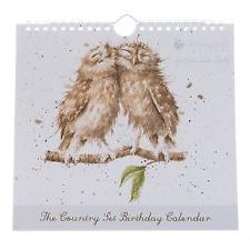 Wrendale Designs Birthday Calendar Owls The Country Set