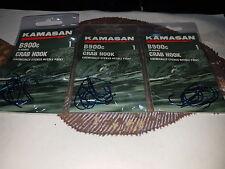 3 X The Kamasan size 1 B900c crab hooks limerick  Blue popular match & pleasure