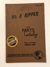Caterpillar Tractor Co. No. 8 Ripper Parts Master Catalog Manual 63C1-UP