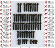 DUCATI PANIGALE 1199 TITANIUM 51 PIECE ENGINE CASE BOLT KIT BLACK