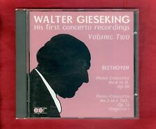 Walter Gieseking - His First Concerto Recordings Vol. 2 -Beethoven Bach 1995 CD