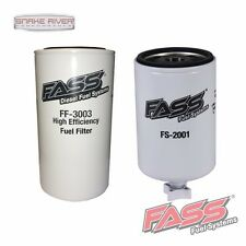 FASS FUEL SYSTEMS BLUE & RED TITANIUM SERIES REPLACEMENT FUEL & WATER FILTERS