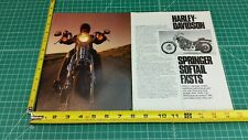 1988 Harley-Davidson FXSTS Springer Softail 14-Page Article, Impression, Photos
