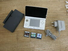 Nintendo 3DS White Handheld System with cradle
