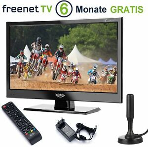 Camping LED LCD TV Fernseher Xoro HTL 1550 mit Freenet TV DVB-T2 USB 12V 230V