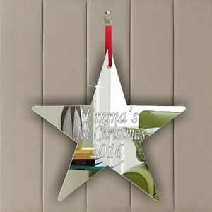 Personalised Hanging Decoration Birthday Wedding Memorial Party Gift STAR