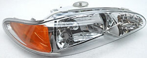 OEM Ford Escort Mercury Tracer Right Passenger Side Headlight Scratches on Lens