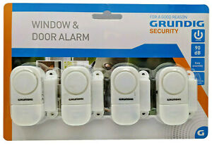 4 Fenster Alarm Türalarm Grundig Fenstersicherung Alarmanlage Einbruch Melder