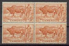 Cameroun 1946 Sc# 305 Zebu & Herder 30c block 4 MNH