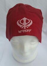 Sikh Punjabi Turban Patka Pathka Singh Khanda Bandana Head Wrap Maroon Colour
