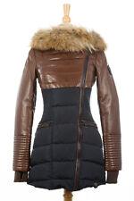 100% AUTHENTIC Rudsak Silvia Down Leather Jacket Brown XS (Older Model)
