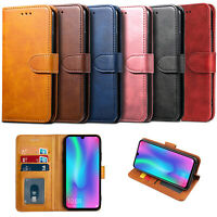 For Honor 8S 10 Lite P Smart 2019 Case Luxury Leather Wallet Cover Stand Flip