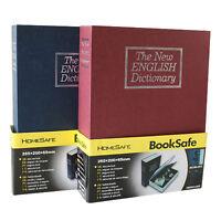 (US STOCK) Dictionary Secret Book Hidden Safe Money Box Home Key Lock Large
