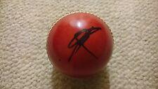 SIGNED SHANE WARNE RED CRICKET BALL AUSTRALIA TEST LEGEND SPIN KING BOWLER RARE