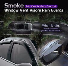 Smoke Window Vent Visor + Side Mirror Rain Guard 6P For KIA 2010-2014 Sorento R