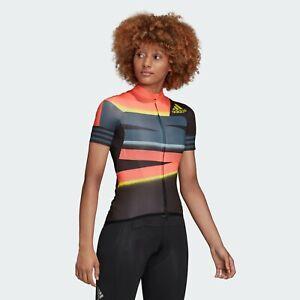 Adidas Women's Cycling ADISTAR JERSEY App Solar Red / Shock Yellow FJ6600