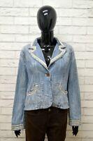 Giacca in Jeans GAUDI Donna Taglia Size 44 Maglia Blazer Jacket Woman Cotone Blu