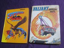 SUPERMAN AND BATMAN WITH ROBIN 1973 ANNUAL + VALIANT 1971 ANNUAL