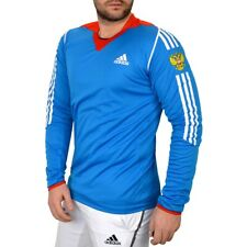 Adidas Russia Athletic Longsleeve Herren Sport Shirt Langlauf Cross County blau