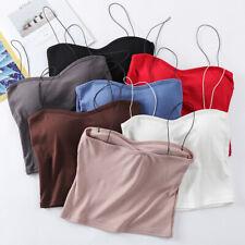 Women Sexy Sleeveless Vest Blouse Casual Tank Tops Summer Crop Shirt Cami Tops