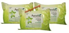 Lot of 3 Aveeno Positively Radiant Makeup Removing Wipes 25 Count New In Pack