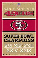 SAN FRANCISCO 49ERS - SUPER BOWL CHAMPIONS POSTER - 22 x 34 - NFL 6750