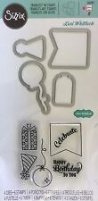SIZZIX FRAMELITS stamps & cutting dies HAPPY BIRTHDAY TO YOU for card making