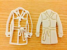 Trench Coat Shape UK Plastic Cookie Cutter Fondant Cake Decorating Cupcake