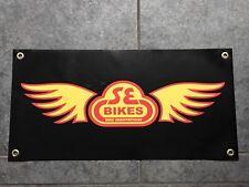SE Bikes banner sign shop wall garage bicyle BMX bike race jump cruiser PK