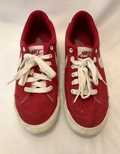 Women's Size 8 Red Canvas Nike shoes