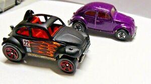 Hot Wheels 1983 & 1988 VW Bug Malaysia Blackwall Purple Black Baja Bug