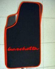Fiat Barchetta Tapis de sol en moquette noir/rouge