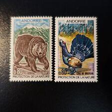 ANDORRA FRANCÉS Nº210/211 PROTECCIÓN LA NATURE / ANIMALES NEUF MNH