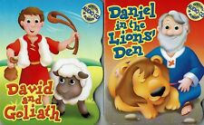 Bible Songs Stories LOT OF 2 CD Kids Childrens Board BOOK Daniel David Goliath