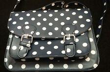 Mini blue spotty handbag with strap