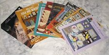 Lot of 8 Kitchen Projects Cross Stitch Booklets Patterns Designs Placemats &More