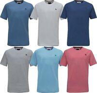 Men's Crew Neck Short Sleeve Small Logo Basic T-Shirt Regular Fit S-XXL Beebizco