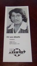 Luis Alberto #8 Forward NY Arrows professional indoor soccer player 1979 -80