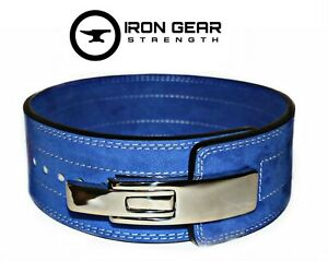 IRON GEAR STRENGTH Powerlifting 10mm Lever Weightlifting PINK Belt (LARGE)