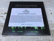 DEAD CAN DANCE  In Concert  Rare promo CD Pias 2013  Lisa Gerrard Brendan Perry