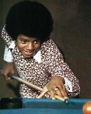 """Michael Jackson~Shooting Pool~Playing Pool~Pool Hall~Billiards~16"""" x 20"""" Photo"""