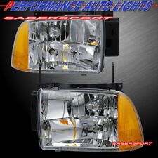 Pair Euro Clear Composite Type Headlights for 1995-1997 Chevrolet Blazer