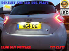 RENAULT ZOE LED BULBS NUMBER LICENSE REG PLATE T10 W5W 12 Months Warranty