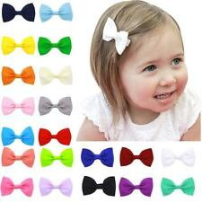 20PCS Kids Hair Tiny Bow Alligator Clips for Baby Girls Toddlers Kids RU