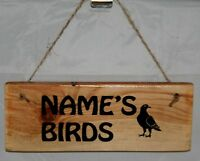 Personalised Any Name Words Bird Duck Canary Pigeon Loft Sign Plaque Shed Dad