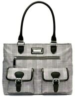 Calvin Klein Belfast Check Nylon Tote Women's Handbag - New!