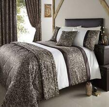 De Lujo Salima Crema Leopardo Animal Print Funda nórdica individual de juego de cama