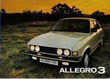 Austin Allegro 3 Base L HL 1979-80 Original Sales Brochure Pub. No. 3331/B 12/79