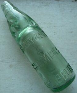 HARDY & SON chemist SALISBURY 10oz Codd bottle C 1900s